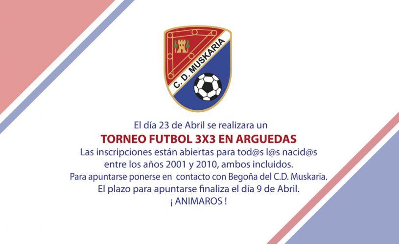Torneo fútbol 3×3 en Arguedas